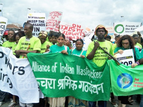 aiw and global alliance at cop17 march